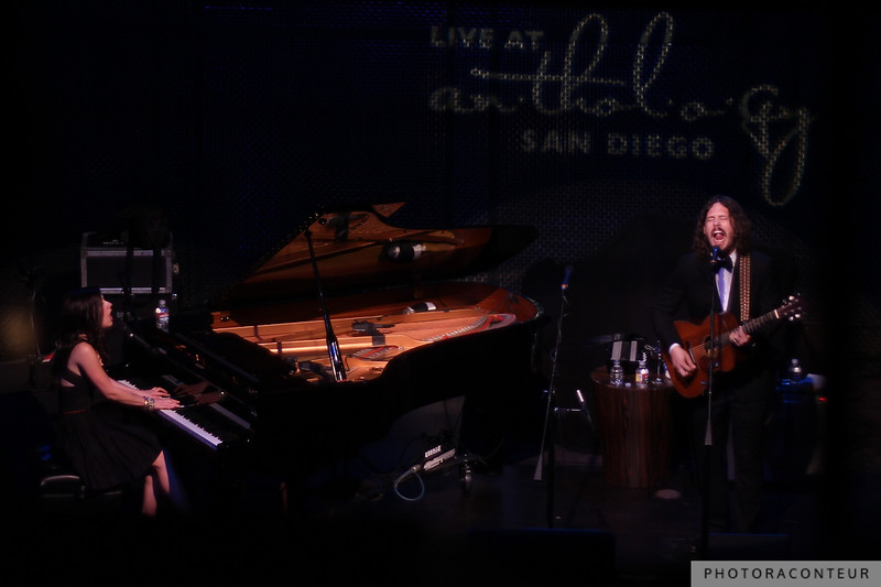 """The Civil Wars performing """"Poison and Wine"""" at Anthology in San Diego, June 2011  (Photo by Benjamin Padgett)"""