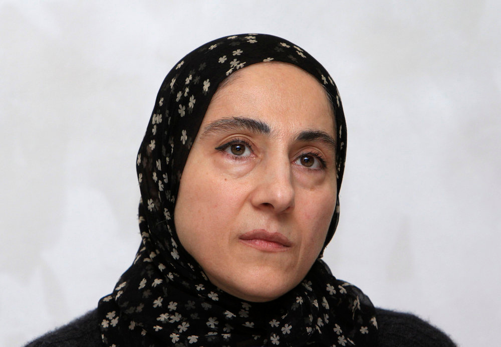 . Zubeidat Tsarnaeva, mother of Tamerlan and Dzhokhar Tsarnaev - the two men suspected of carrying out the Boston bombings, attends a news conference in Makhachkala April 25, 2013. Anzor Tsarnaev and former wife Zubeidat denied their sons had planted the bombs at the Boston marathon which killed three people and wounded 264, saying they had been framed. REUTERS/Stringer