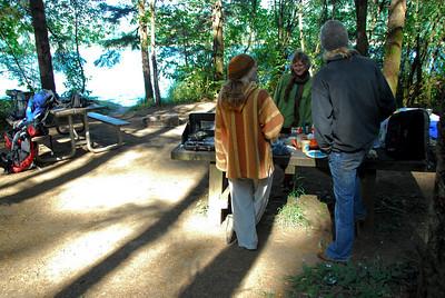 Eating the king bolete at Vivian Lake