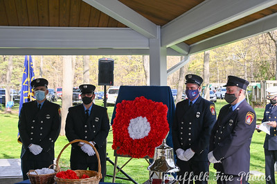 Ceremony - Suffolk Vol Firemen's Associations Memorial Service, Sayville, NY - 5/2/2021