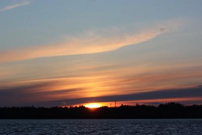 Sunset at Westboro Beach, April 2 2016