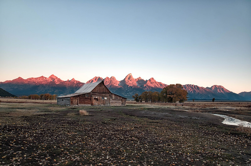 Sunrise Alpenglow on the Tetons