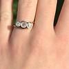 .80ctw Antique English 3-Stone Peruzzi Cut Diamond Ring 3