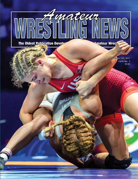 Amateur Wrestling News Cover, Oct, 2017
