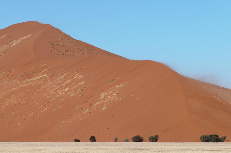 Weiter im Süden liegt Sossusvlei mit seinen grossen Sanddünen. Einige sind 500m hoch.