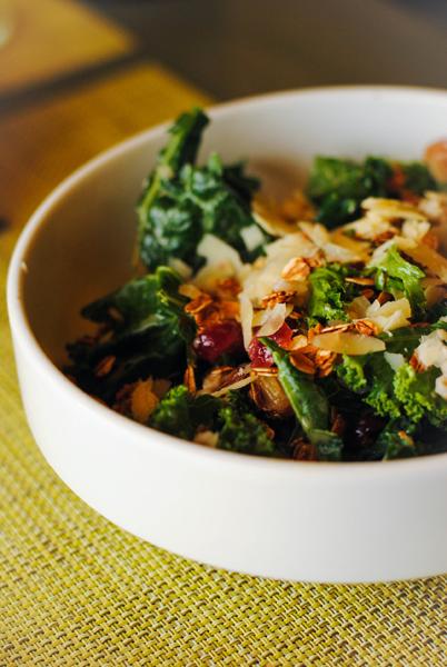 . Kale-Barley Salad at Bistro Joe\'s. Photo by Lori Yates