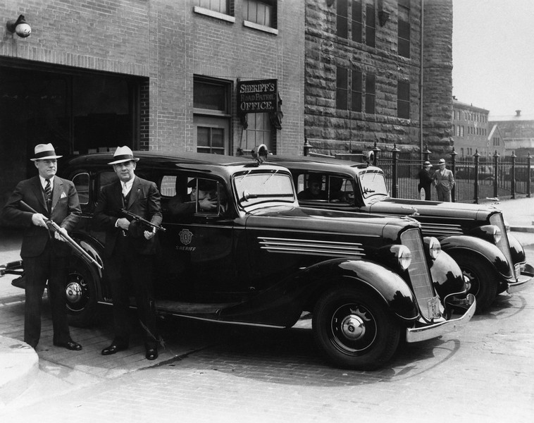 Marion County Deputies armed with vehicles 1930s