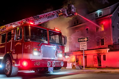 3 Alarm Structure Fire - 168 Washington St, Peabody, MA - 12/25/16
