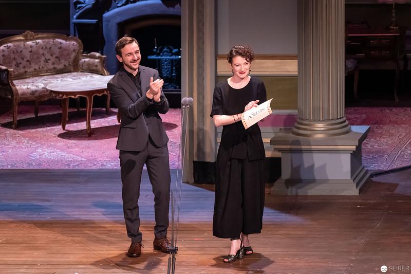 Lara Sienczak, Peter Fasching - Nestroy Verleihung 2018
