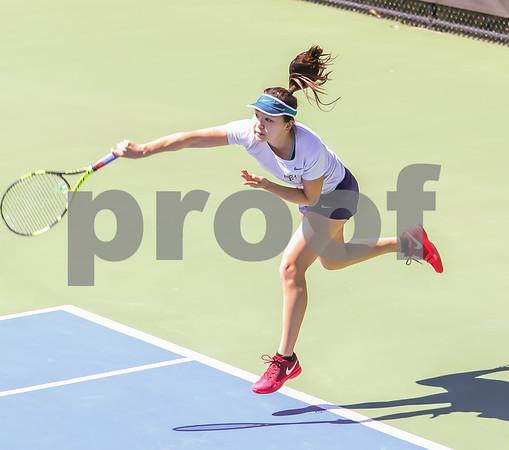 Doubles Photos - Court 1 --Kalhorn/Schrage (Princeton) def. Qostal/Zhu (Penn), 6-4