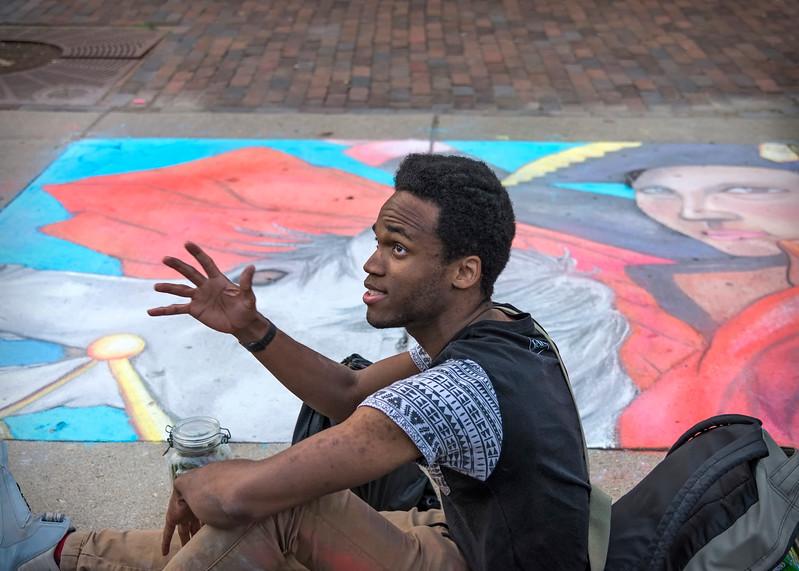 Street meets artist...