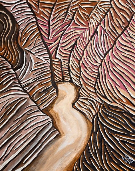 Little Wildhorse Canyon, acrylic painting, San Rafael Swell, Utah