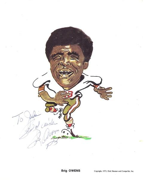 1972 Compu-Set Redskins Brig Owens