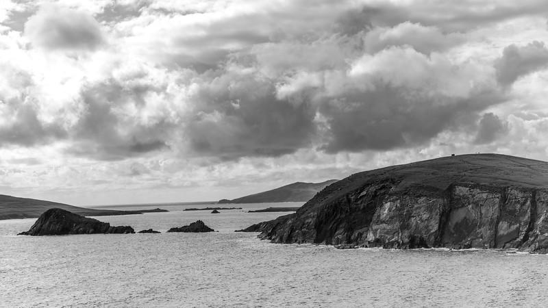 Storm clouds over Atlantic Ocean, Ballyferriter, County Kerry, Ireland