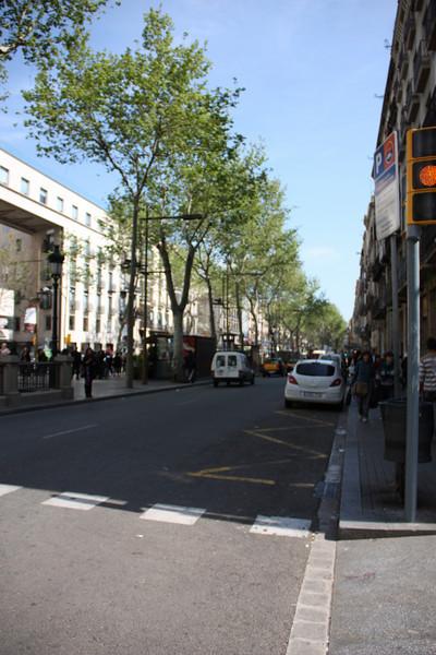 La Rambla.  The main strip in Barcelona.