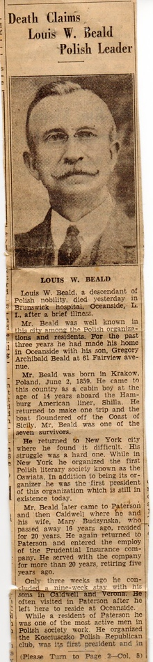 Louis W Beald's Obituary