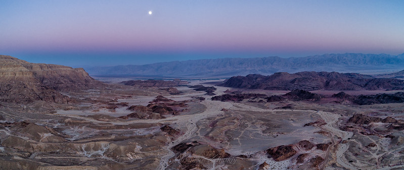 Negev Desert after sunset.