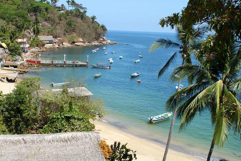 View of the bay at Yelapa.