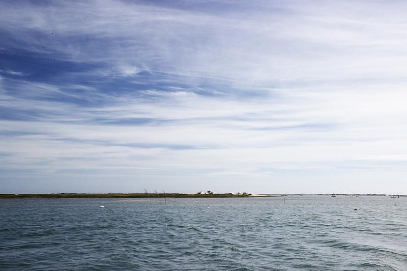 Místní ostrovy na laguně Rio Formosa nemají opravdu nijak výrazný výškový profil