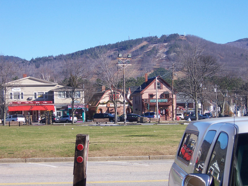 A shot of part of the North Conway village.