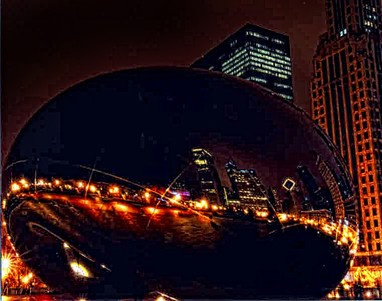 The Bean at night in Chicago .jpg