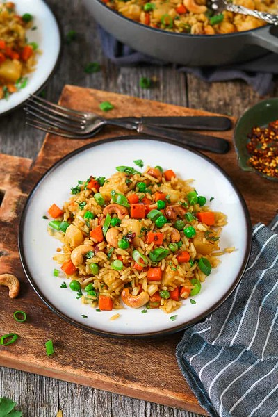 Vegan Thai recipes - Pineapple Fried Rice