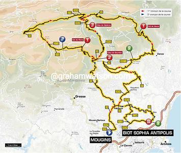 Paris-Nice Stage 7:  Mougins > Biot Sophia Antipolis, 195.5 km