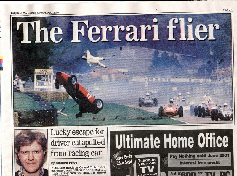 The driver had a lucky escape from this flyer  in 2000