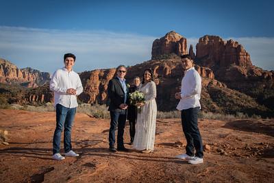Marina & James'  Sedona Wedding