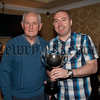 Bessbrook Outdoor Bowls Awards. Singles winner Darren Carroll (pictured right) is pictured with Runner Up Frank Dolan. RS1548003