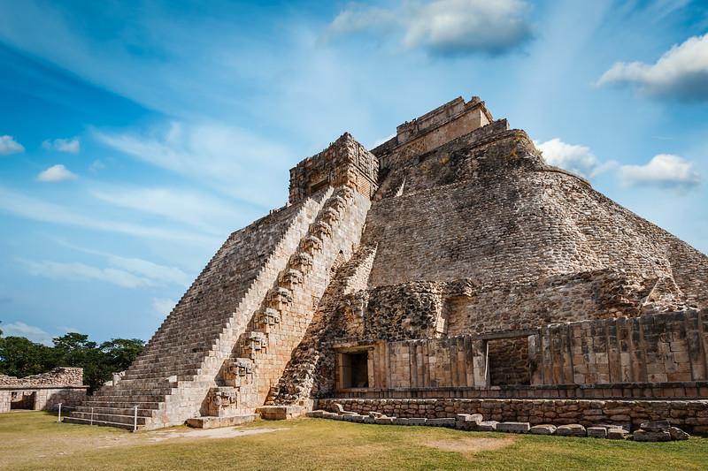 Mayan pyramid in Uxmal, Mexico