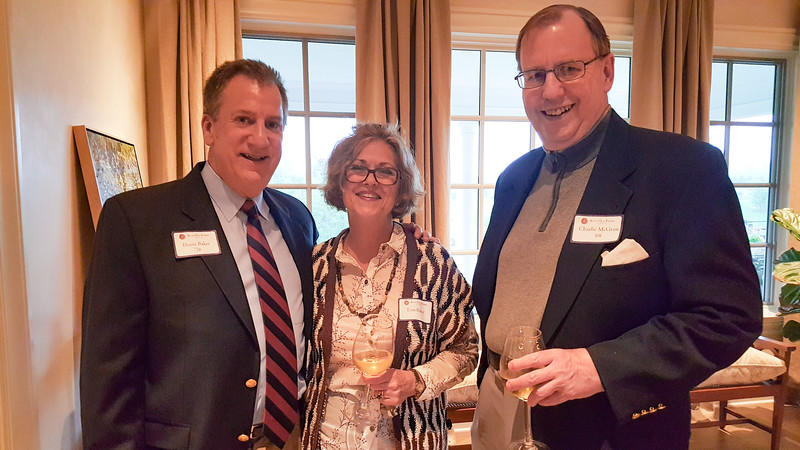 Houie Baker '76, Toni Baker and Charlie McGraw '68