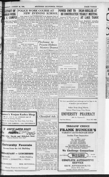 Southern California Trojan, Vol. 10, No. 19, August 26, 1931