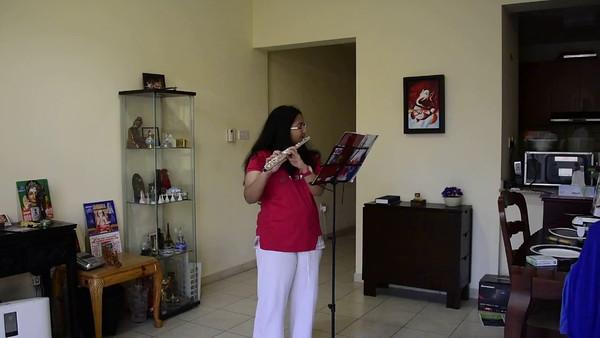 """Shreya Flute Recording """" Nobody Knows"""""""