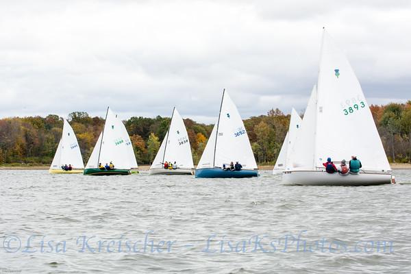 Thistle Last Splash Regatta 2014 at Hoover Sailing Club