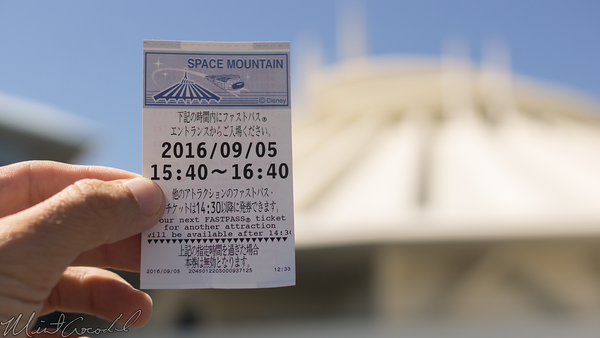 Disneyland Resort, Tokyo Disneyland, Tomorrowland, Space Mountain, Fast Pass, FastPass, Fast, Pass