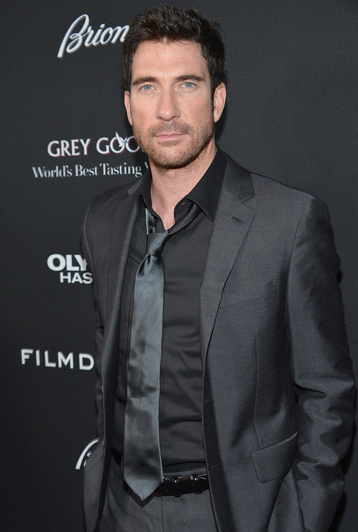 """. Actor Dylan McDermott arrives at the premiere of FilmDistrict\'s \""""Olympus Has Fallen\"""" at ArcLight Cinemas Cinerama Dome on March 18, 2013 in Hollywood, California.  (Photo by Alberto E. Rodriguez/Getty Images)"""