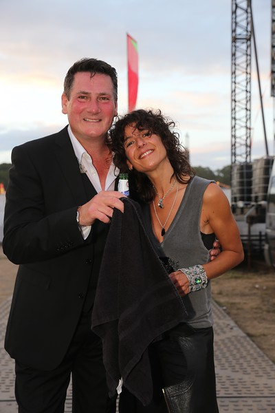 Tony Hadley back stage.