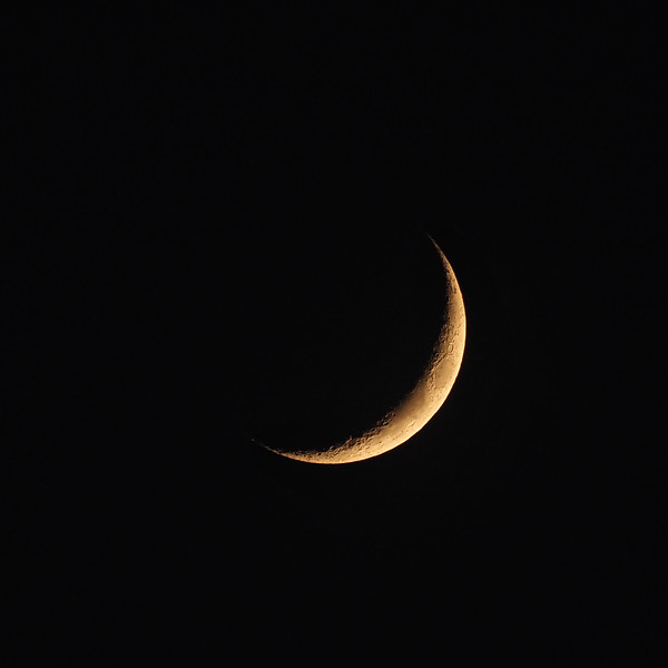 Crescent moon 26 April 2020