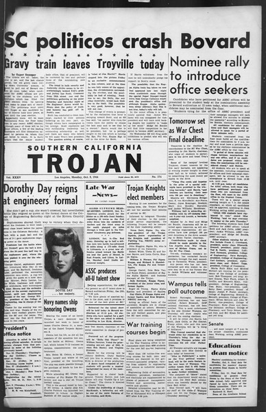 The Trojan, Vol. 35, No. 174, October 09, 1944