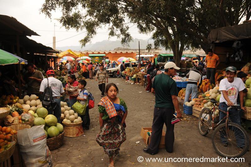 Girl in the Antigua Market, Guatemala
