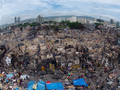 Aftermath of Barangay Lorega fire