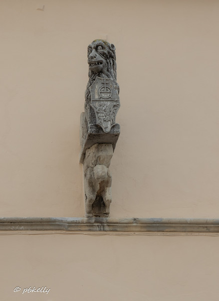 Agnone wall ornament.  Not sure what the meaning is, but there was a period of Venetian influence on the architecture.