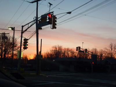 Morning sunrise as we leave for Massachusetts