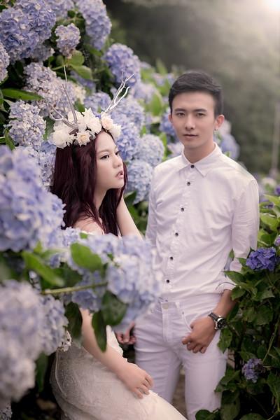 0607 繡球花,淡水紅毛城,自助婚紗
