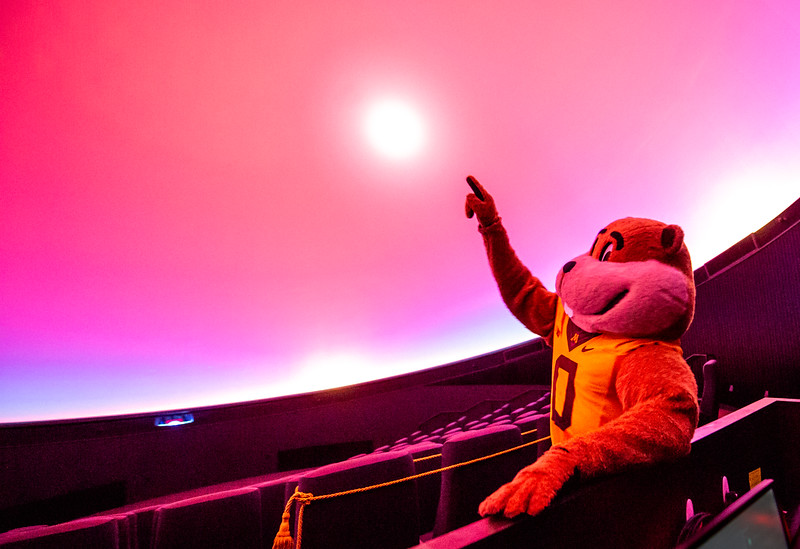 Goldy Gopher is ready for blast off!