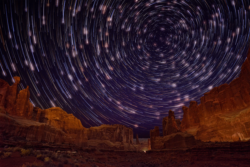 Comet Stars with glow at Park Place in Arches