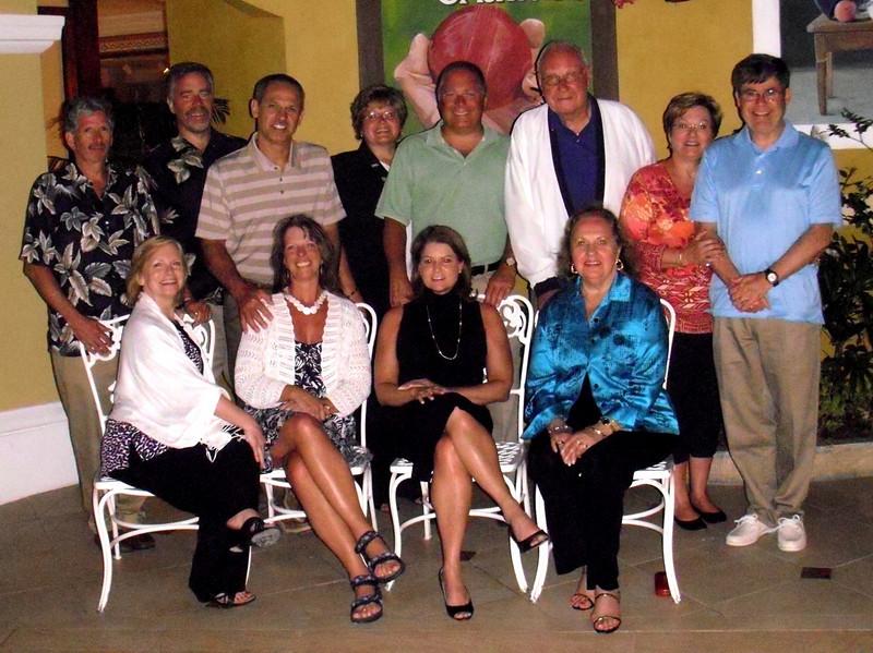 1st Row:   Ruth Sano,  Marian Donovan,  Joan Vaughn, Joan Batza  2nd Row:  Bob Sano, Jim Elsner, Frank Donovan, Debbie Elsner,  Greg Elsner, Mike Batza, Donna DePew, Dennis DePew