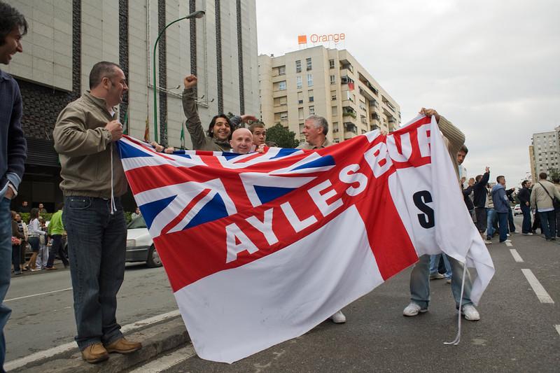 Tottenham fans on tour, Seville, Spain