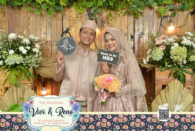 Vivi dan Reno  Wedding Photobooth Gallery